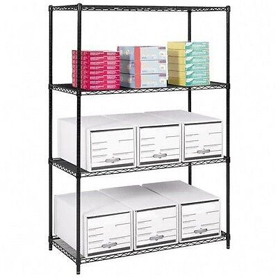 Safco Industrial Wire Shelving - 5291BL