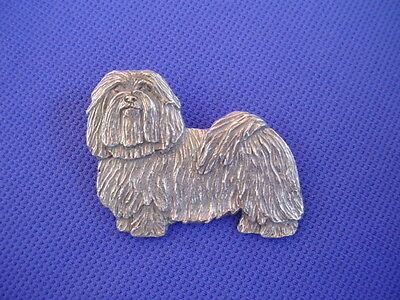 Havanese Pin standing #83A Pewter TOY Dog jewelry by Cindy A. Conter rare breed