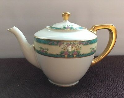 Vintage RARE ~ LENOX MONTICELLO (C300) TEAPOT GREEN BLACK BACKSTAMP