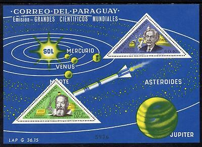 Paraguay MNH 1965 Airmail - Scientists M/S