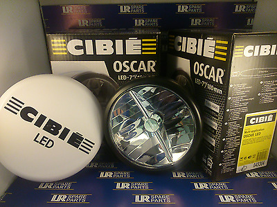 """Pair (x2) Of Black Cibie LED 7"""" Driving lamps With White Cover 45304"""