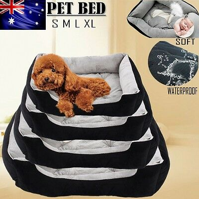 Pet Soft Warm Mattress Dog Cat Pad Mat Cushion Soft XL Large Medium Small BLACK