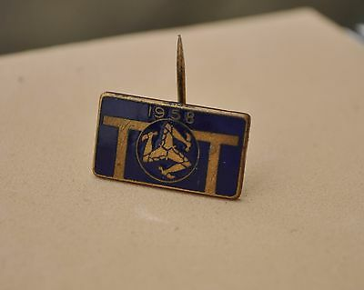 Vintage  Isle of Man TT  Pin badge 1958  Superbikes Motorcycle IOM Racing