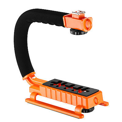 Neewer C-Shape Versatile Stabilizing Action Handle Bracket with hot shoe-Orange