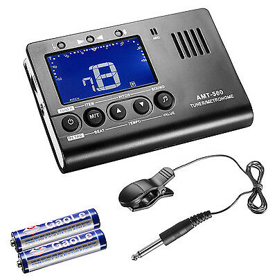 Neewer AROMA AMT-560 3 In 1 Metronome Tuner and Sound Pickup for Guitar
