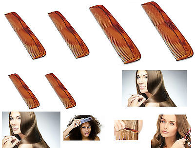 6 x Hair Styling Comb Set Professional Hairdressing Brush Barbers Gents Ladies