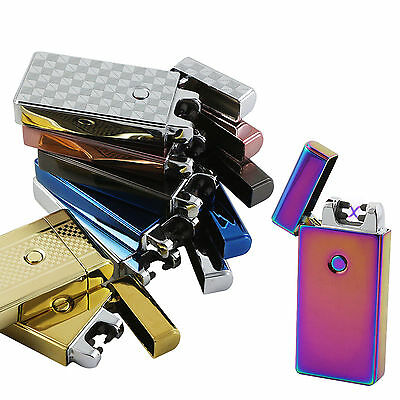 Rechargeable USB Lighter Dual Arc Pulse Flameless Cigarette Windproof Lighter