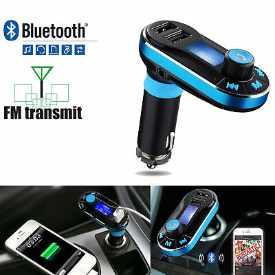 Car Kit Wireless Bluetooth MP3 Player FM Transmitter SD LCD Dual USB Charger New