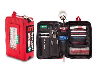 SURVIVAL Compact First Aid KIT - Great for Bags, Bikes, Hiking and Outdoors