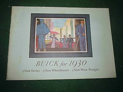 1930 Buick FULL LINE Color Sales Catalog: 32-Pages Flint Michigan