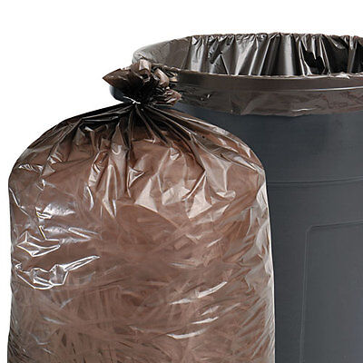 Stout 100% Recycled Plastic Garbage Bags, 60gal, 1.5mil, 36 x 58,...