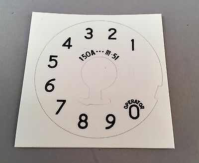 Reproduction Western Electric 150A Dial Plate Overlay - SKU - 20694