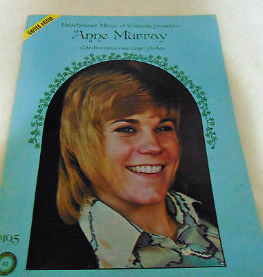 Anne Murray Sheet Music Beechwood Music of Canada Limited Edition