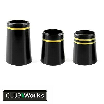"Golf club shaft ferrules - With Gold rings - For irons & hybrids - .355"" & .370"""