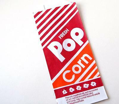 50 1 Ounce oz Popcorn Bags Paper Theater Concession #1