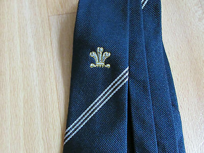 Vintage WALES Logo RUGBY Union Tie - SEE PICTURES