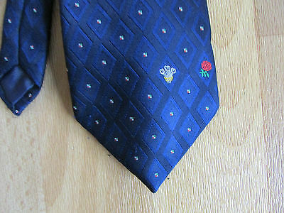 ENGLAND & WALES Logo RUGBY Union Tie by B & M Leisure - SEE PICTURES