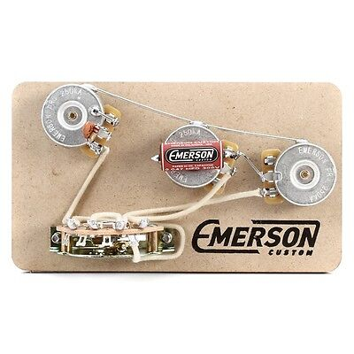 Emerson Custom Strat 5-Way Prewired Kit - FREE shipping!
