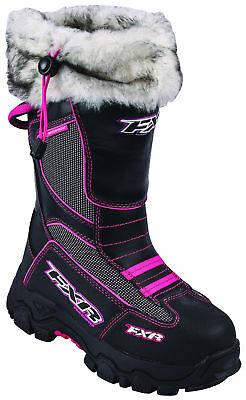 FXR Womens Black/Fuchsia Excursion Snowmobile Boots Snow Snocross 2017