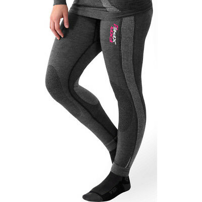 FXR Womens Grey 25% Vapour Seamless Compession Snowmobile Base Layer Pants Snow