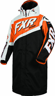 FXR Mens Black/Orange Warm Up Insulated Snowmobile Coat Snow Snocross