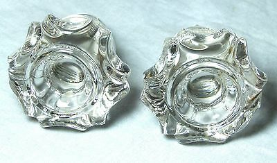 Antique Glass Chest/drawer/door Handle Knobs 49 Mm Diameter