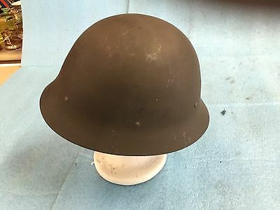 ORIGINAL WW2 ERA  Military Helmet with liner & strap unusual color