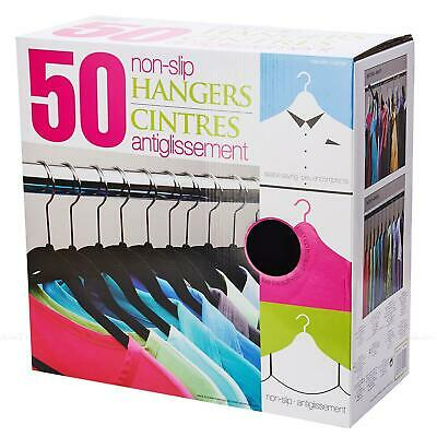 Standby Duo Flocked Non Slip Space Saving Clothes Thin Hangers Closet 50 Pack