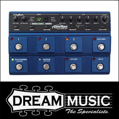 DigiTech JamMan Delay Multi-Function Stereo Looper Guitar Effects Pedal RRP$529