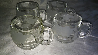 Vintage Nestle World Mugs Set Of 4