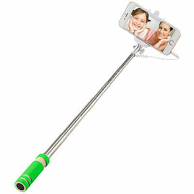 New Selfie Stick Wired Phone Holder Remote Extendable Monopod for iPhone Android