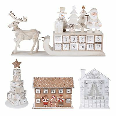 Wooden Christmas Advent Calendar 24 Drawers Home Xmas Festive Decoration Gift