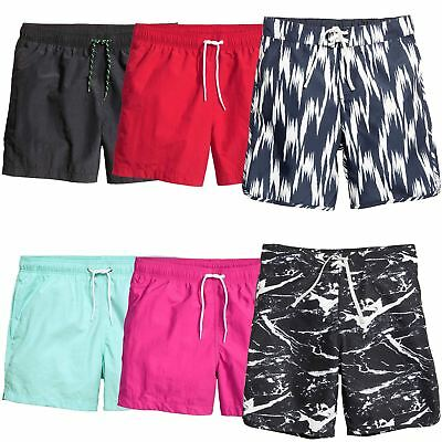 9d51f3ee3ccf Mens Ex H M Printed Plain Swimming Shorts Summer Surf Board Bottoms Sizes  XS-XL