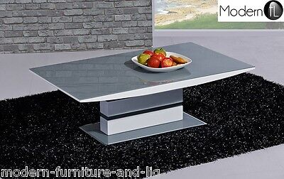 Modern Grey And White High Gloss Coffee Table