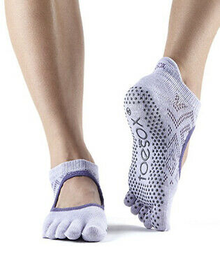 ToeSox Full Toe Bellarina Non Slip Grip Workout Dance Yoga Pilates Socks