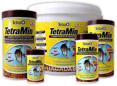 TETRA TETRAMIN 52g,100g,200g,2100g AQUARIUM TROPICAL FISH TANK FLAKE FOOD