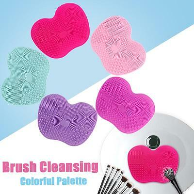 Silicone Makeup Brush Washing Scrubber Board Small Cleaning Mat Tool 5 Sucker