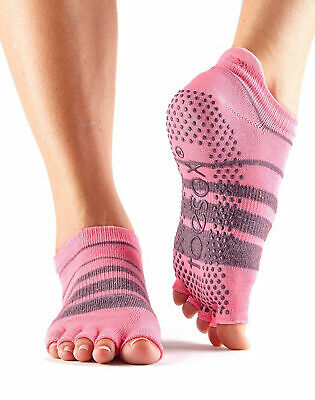 ToeSox Without Toe Low Rise Non Slip Grip Workout Dance Yoga Pilates Socks