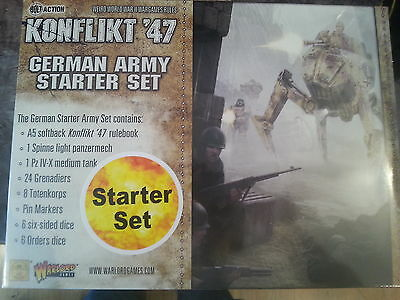 Konflikt `47 German Army Starter Set - New And Sealed
