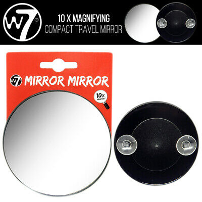 W7 Makeup -  10 X Magnifying Vanity Compact Travel Specchio Con Suction Cups