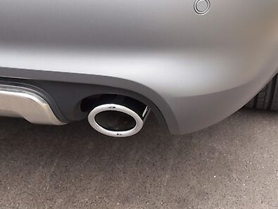 Genuine Audi A4 A5 A6 Q5 80Mm Accessory Exhaust Tail Pipe Trims For V6 Engines