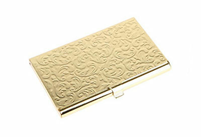 SILVERHOOKS NEW Damask Embossed Metal Business Card Holder ID Wallet