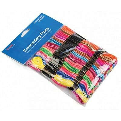 Craft Factory 36 x 8m Rainbow Colours Embroidery Thread Floss Skeins