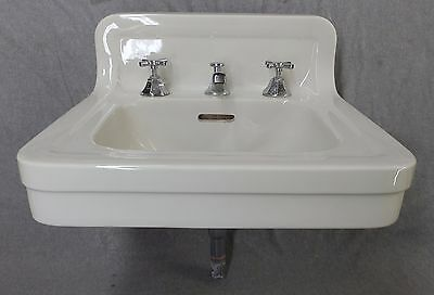 Antique White Porcelain Ceramic Bathroom Wall Sink Old Crane Plumbing 1636-16