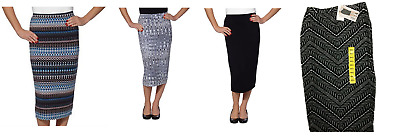 NEW Matty M Ladies' Midi Skirt Pull-on Style, Fully Lined, Knee Length