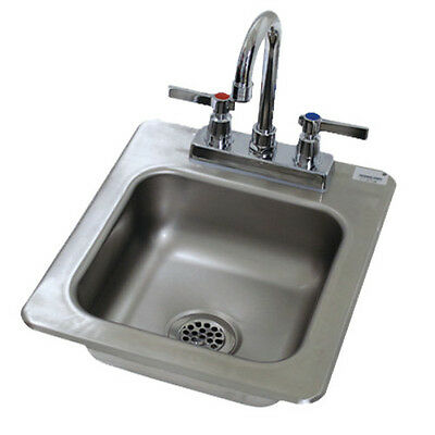 "Advance Tabco DI-1-25 9"" Drop In Bar Hand Sink With Deep Drawn Sink Bowl"