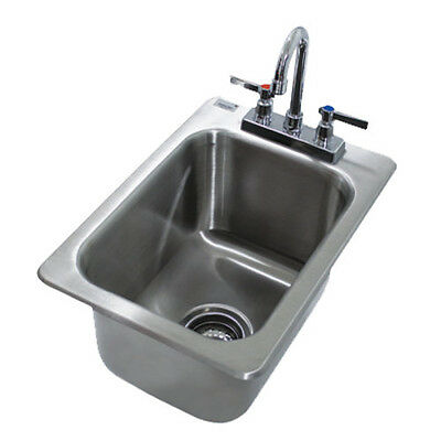 """Advance Tabco DI-1-10 10"""" Drop In Bar Hand Sink With Deep Drawn Sink Bowl"""