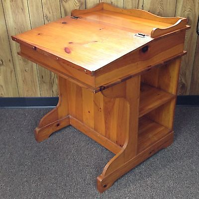 Large Mastercraft S.J. Bailey & Sons Vintage Wooden Student Desk