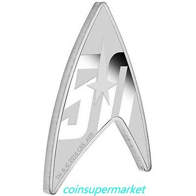 Star Trek The Original Series 50th Anniversary 2016 1oz Silver Proof Delta Coin!