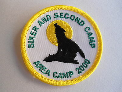 2000 Sixer And Second Camp Cubs / Boy Scouts Patch,  Canada, Boy Scouts Crest